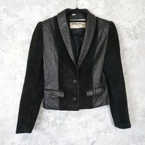 Wilsons Black Leather Cropped Jacket